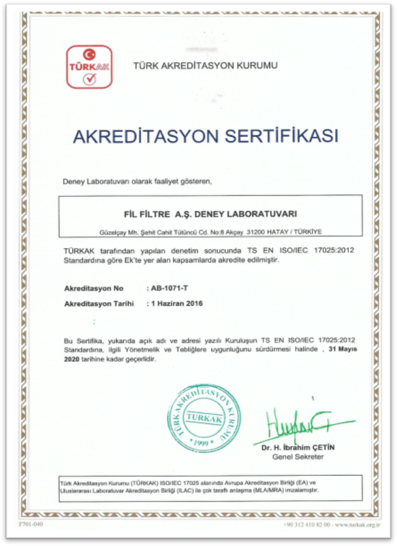 ISO 17025:2012 - Laboratory Accreditation